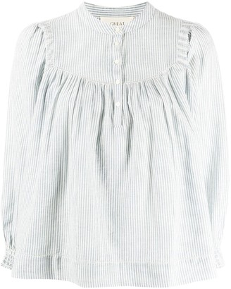 The Great Striped Button-Collar Shirt