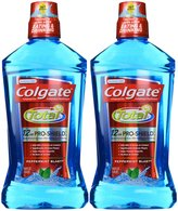 Colgate Total Advanced Pro-Shield Mouthwash, Peppermint Blast - 33.8 oz - 2 pk