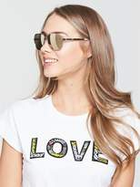 Juicy Couture Aviator Sunglasses - Gold