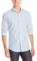 Vince Camuto Men's Plaid Spread-Collar Long-Sleeve Button-Down Shirt