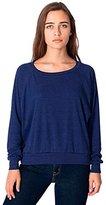 American Apparel Women's Tri-Blend Rib Light Weight Raglan Pullover