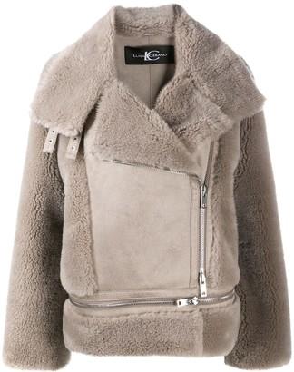 Oversized Zipped Biker Jacket