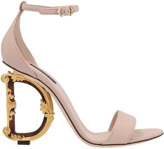 Dolce & Gabbana Logo Embellished Heel Sandals