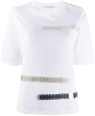 Fabiana Filippi sequin-embellished crew-neck T-shirt
