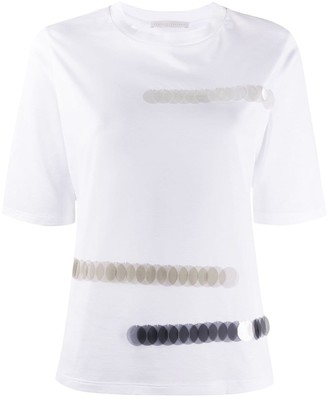 Fabiana Filippi sequin-embellished crew-neck T-shirt