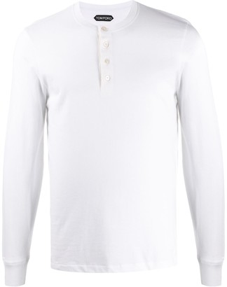 Tom Ford buttoned long sleeves T-shirt