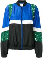 MSGM lace detail bomber jacket
