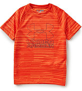 Under Armour Big Boys 8-20 Big Logo Printed Hybrid Tee