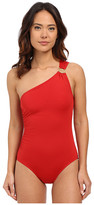 MICHAEL Michael Kors Logo Ring One Shoulder Maillot One-Piece