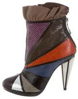 Rodarte Multicolor Ruffled Booties w/ Tags