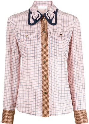 Chloé Western-inspired check-pattern shirt