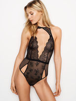 Very Sexy Cutout Chantilly Lace Plunge Teddy
