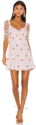 For Love & Lemons Shortcake Puff Sleeve Dress