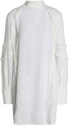IRO Ruffle-trimmed Fil Coupe Gauze Mini Dress