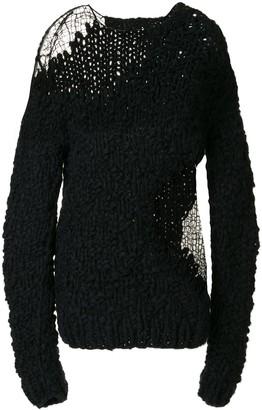 Ann Demeulemeester Open Knit Details Jumper