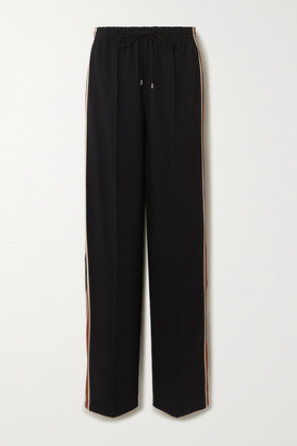 Chloé Signature Striped Stretch-jersey Track Pants - Black