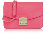 Furla Rose Metropolis Small Leather Shoulder Bag