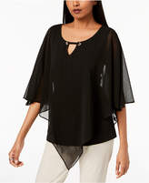 JM Collection Layered-Look Chiffon Poncho Top, Created for Macy's