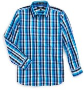 Nordstrom Boy's Smartcare(TM) Danube Plaid Dress Shirt