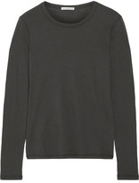 James Perse Little Boy Tee Brushed-cotton Top - Dark gray