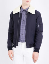 A.P.C. Manchester faux-shearling-collar cotton-blend jacket