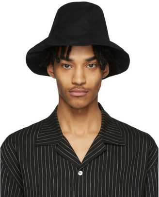 BED J.W. FORD Black Wool Tulip Hat