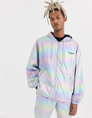 Sixth June holographic reflective track jacket