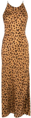 Rosetta Getty Leopard-Print Slip Dress