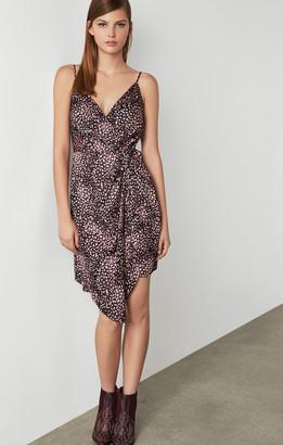 BCBGMAXAZRIA Animal Print Wrap Dress