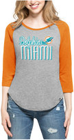 '47 Women's Miami Dolphins Club Block Raglan T-Shirt