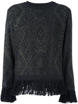 Christian Pellizzari fringed hem jumper