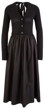 Prada Long-sleeved long dress