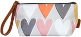 Caroline Gardner Hearts Cosmetic Bag, Small, Grey