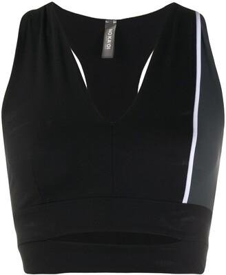 NO KA 'OI Side Stripe Cropped Top