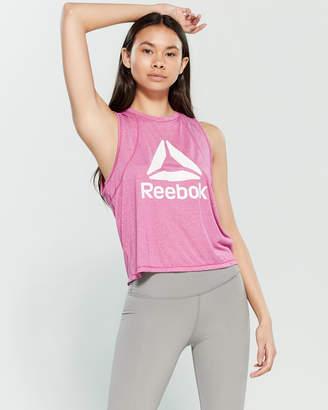 Reebok Throwback Logo Cropped Tank Top