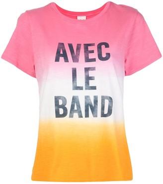 Cinq à Sept 'Avec Le Band' print T-shirt