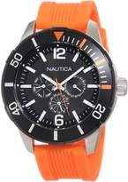 Nautica Men's Sport N14627G Orange Resin Quartz Watch with Dial