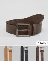 Asos Casual Belt 3 Pack
