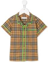 Burberry checked poplin shirt