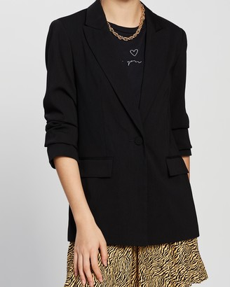 Topshop Soft Single-Breasted Suit Blazer