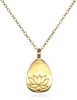 Satya Jewelry Gold Lotus Necklace