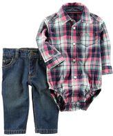Carter's Baby Boy Plaid Bodysuit & Jeans Set