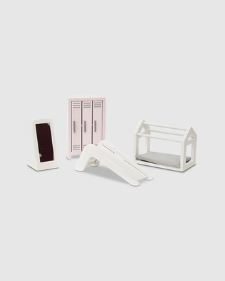 Astrup - Girl's White Wooden Toys - Wooden Playroom Furniture Set - Size One Size at The Iconic