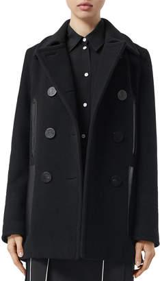 Burberry Mossley Wool Pea Coat
