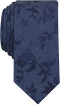 Bar III Men's Chambray Floral Leaf Slim Tie, Only at Macy's