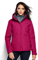 Lands' End Women's Petite Hooded Squall Jacket-Black