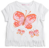 Design History Girls 2-6x Butterfly Fringe Tee