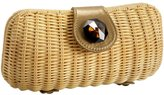 Wicker Stone Clutch
