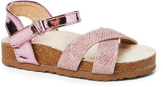 Rampage Girls' Sandals LPNK - Light Pink Metallic Crisscross Sandal - Girls