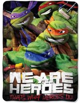 """Northwest Company Nickelodeon TMNT """"We Are Heroes"""" 46-inch by 60-inch Micro Raschel Throw - by The"""